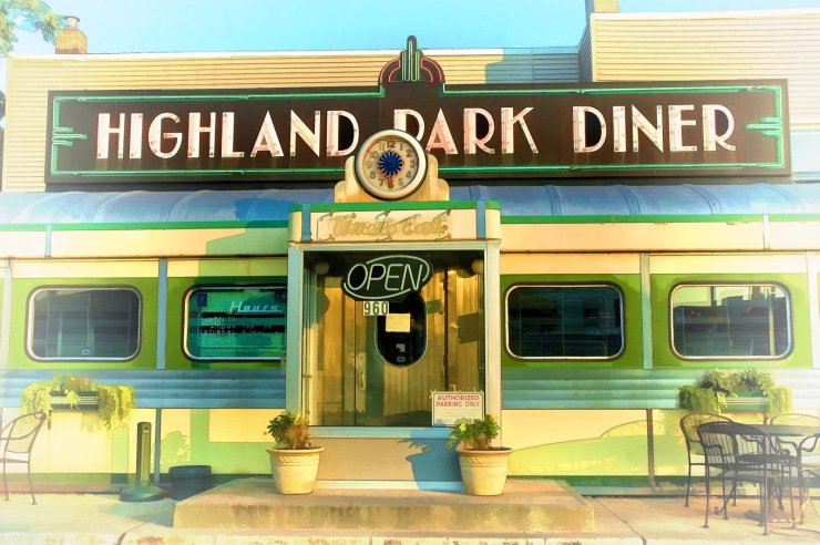 Diner front and centered